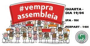 assembleia ipa e perpart - dia 19 de abril